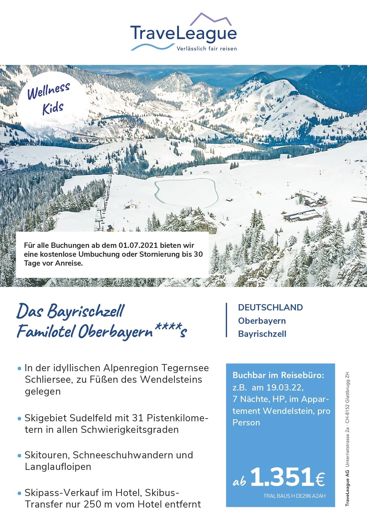 Ski Heil in Bayrischzell- Das vier Sterne Bayrischzell Familotel Oberbayern, am Fuße des Wendelsteins, in der idyllischen Bergregion von Tegernsee und Schliersee, lädt zur weißen Winterzeit ein.